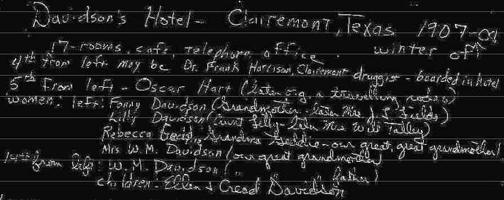 Davidson's Hotel List of Personages