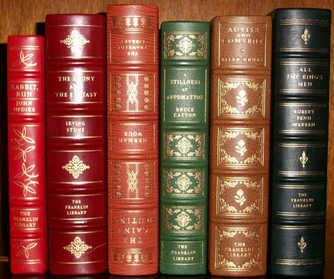 SIGNED FRANKLIN LIBRARY SET, 6 VOLUMES, 1977